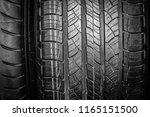 car tires for car background | Shutterstock . vector #1165151500