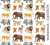 illustration of various animals ... | Shutterstock .eps vector #116515174