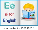 worksheet teaching a letter and ... | Shutterstock .eps vector #116515210