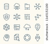 big data line icons | Shutterstock .eps vector #1165152100