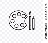paint brush vector icon... | Shutterstock .eps vector #1165154176