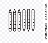 crayons vector icon isolated on ...   Shutterstock .eps vector #1165154236