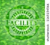 facility green emblem. mosaic... | Shutterstock .eps vector #1165154566