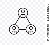 network vector icon isolated on ... | Shutterstock .eps vector #1165158070