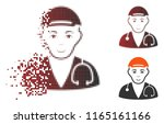 physician doctor icon with face ... | Shutterstock .eps vector #1165161166