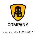 black yellow color house estate ... | Shutterstock .eps vector #1165166113
