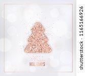 elegant merry christmas card... | Shutterstock .eps vector #1165166926