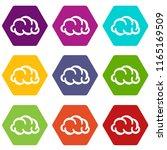 communication cloud icons 9 set ...