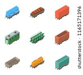 carriage icons set. isometric... | Shutterstock .eps vector #1165171396