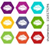 internet cloud icons 9 set...