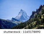matternhorn peak zermatt... | Shutterstock . vector #1165178890