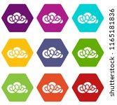 element cloud icons 9 set...