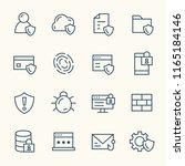 data security line icons | Shutterstock .eps vector #1165184146