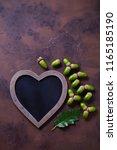 autumn mood chalkboard and... | Shutterstock . vector #1165185190