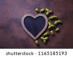 autumn mood chalkboard and... | Shutterstock . vector #1165185193