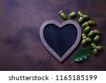 autumn mood chalkboard and... | Shutterstock . vector #1165185199