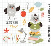 back to school  illustrations... | Shutterstock .eps vector #1165186723