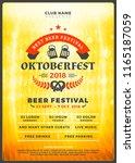 oktoberfest beer festival... | Shutterstock .eps vector #1165187059
