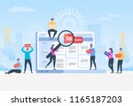 job search. recruitment. head... | Shutterstock .eps vector #1165187203