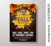 Autumn Party Flyer Illustratio...