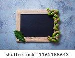 autumn mood chalkboard and... | Shutterstock . vector #1165188643