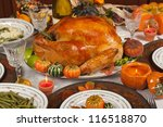 thanksgiving celebration and...   Shutterstock . vector #116518870