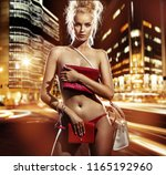 conceptual image. naked woman... | Shutterstock . vector #1165192960