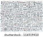 doodle design elements vector... | Shutterstock .eps vector #116519410