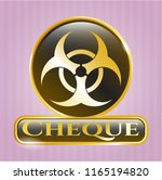 gold shiny badge with... | Shutterstock .eps vector #1165194820