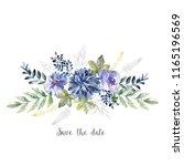 watercolor art with fresh...   Shutterstock . vector #1165196569