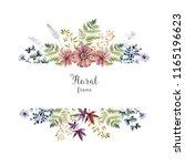 watercolor herbarium frame with ...   Shutterstock . vector #1165196623