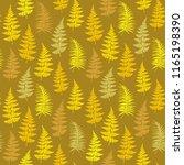 fern frond herbs  tropical... | Shutterstock .eps vector #1165198390