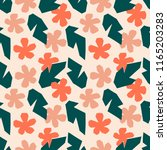 pattern cut shapes flowers and... | Shutterstock .eps vector #1165203283