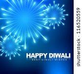 vector happy diwali fireworks...   Shutterstock .eps vector #116520559