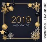 happy new year 2019 with golden ...   Shutterstock .eps vector #1165205800
