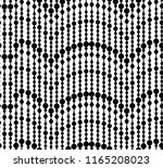 seamless pattern of black beads ... | Shutterstock .eps vector #1165208023