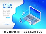 cyber crime and data protection ... | Shutterstock .eps vector #1165208623