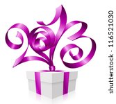 vector purple ribbon in the... | Shutterstock .eps vector #116521030
