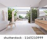 3d rendering. new modern zen... | Shutterstock . vector #1165210999