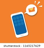 new email notification concept ... | Shutterstock .eps vector #1165217629