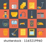 set of 20 icons such as towel ... | Shutterstock .eps vector #1165219960