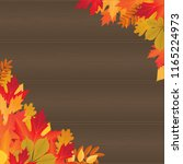 background with autumn colored... | Shutterstock . vector #1165224973