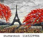 paris european city famous... | Shutterstock . vector #1165229986
