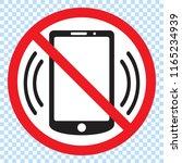 no phones  round red vector... | Shutterstock .eps vector #1165234939