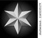 realistic silver star on black... | Shutterstock . vector #1165235179