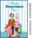 happy grandparents day greeting ... | Shutterstock .eps vector #1165236400