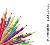 illustration of colored... | Shutterstock . vector #1165237189