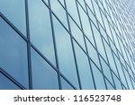 glass wall pattern of modern... | Shutterstock . vector #116523748