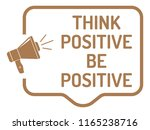 think positive announcement | Shutterstock .eps vector #1165238716