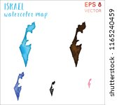 israel watercolor country map.... | Shutterstock .eps vector #1165240459